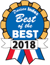 Davison Index Best of the Best 2018 ribbon award